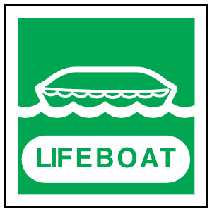 Lifeboat Sign Sticker