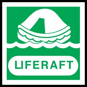 Liferaft Sign Sticker