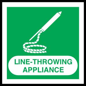 Line-Throwing Appliance Sign Sticker