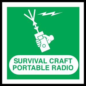 Survival Craft Portable Radio Sign Sticker
