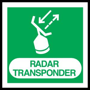 Radar Transponder Sign Sticker