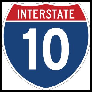 Interstate 10 Sign Sticker