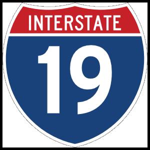 Interstate 19 Sign Sticker