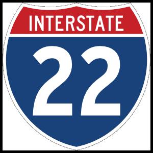 Interstate 22 Sign Magnet