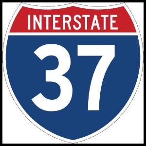 Interstate 37 Sign Magnet