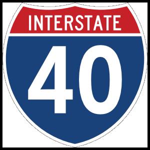 Interstate 40 Sign Magnet
