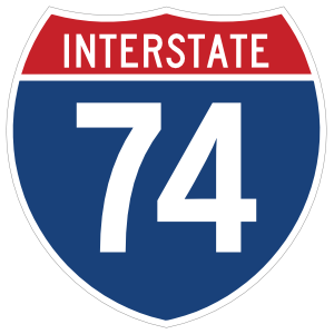 Interstate 74 Sign Sticker