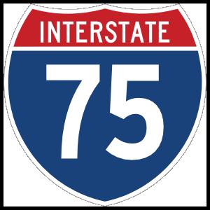 Interstate 75 Sign Magnet