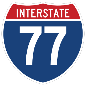 Interstate 77 Sign Sticker