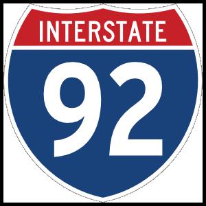 Interstate 92 Sign Magnet