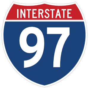 Interstate 97 Sign Magnet