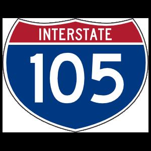 Interstate 105 Sign Magnet