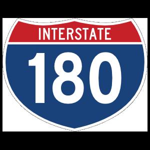 Interstate 180 Sign Magnet
