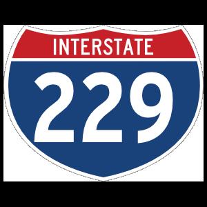 Interstate 229 Sign Magnet