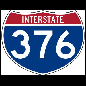 Interstate 376 Sign Sticker