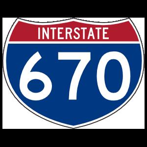 Interstate 670 Sign Sticker