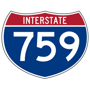 Interstate 759 Sign Sticker