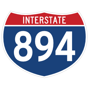 Interstate 894 Sign Sticker