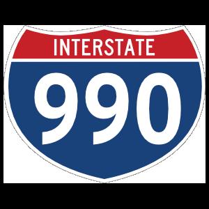 Interstate 990 Sign Magnet