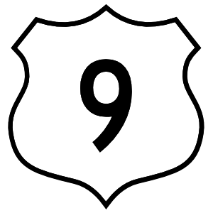 Highway 9 Sign Magnet