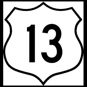 Highway 13 Sign Magnet