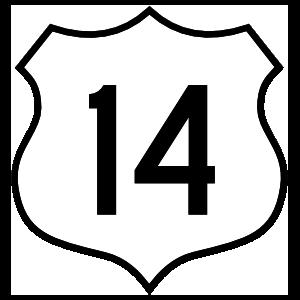 Highway 14 Sign Magnet