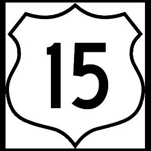 Highway 15 Sign Magnet