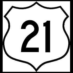Highway 21 Sign Magnet