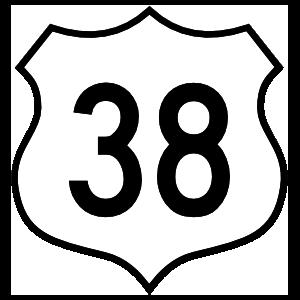 Highway 38 Sign Sticker