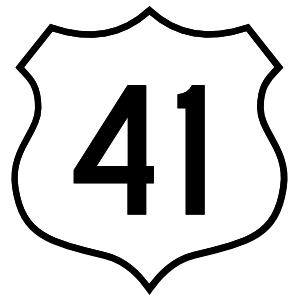 Highway 41 Sign Sticker