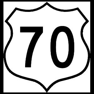 Highway 70 Sign Sticker
