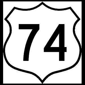 Highway 74 Sign Magnet