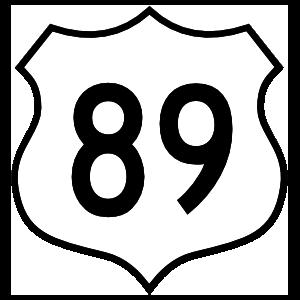 Highway 89 Sign Magnet
