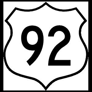 Highway 92 Sign Magnet