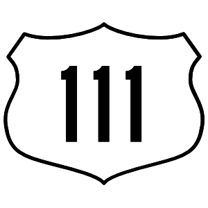 Highway 111 Sign Sticker