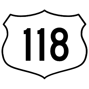 Highway 118 Sign Magnet