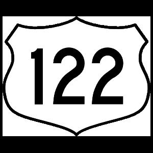 Highway 122 Sign Sticker