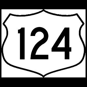 Highway 124 Sign Magnet