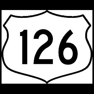 Highway 126 Sign Magnet