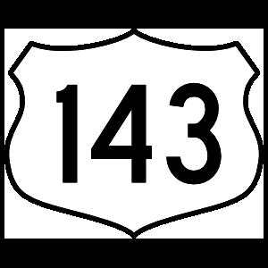 Highway 143 Sign Magnet