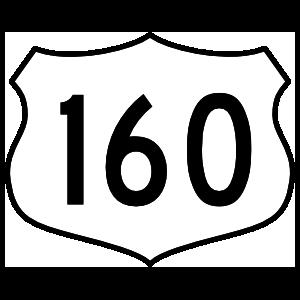 Highway 160 Sign Sticker