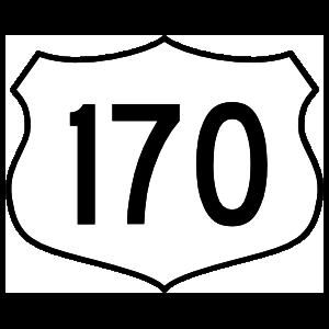 Highway 170 Sign Magnet