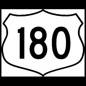 Highway 180 Sign Sticker