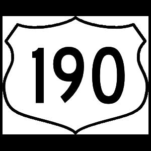 Highway 190 Sign Sticker