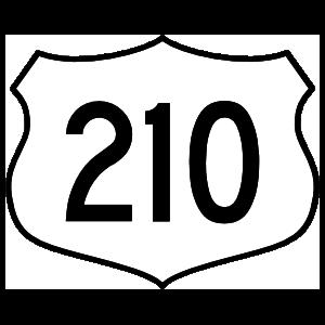Highway 210 Sign Magnet
