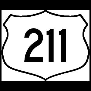 Highway 211 Sign Magnet