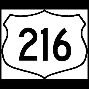 Highway 216 Sign Magnet