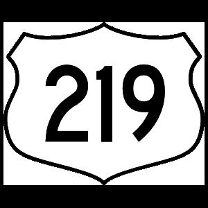 Highway 219 Sign Sticker