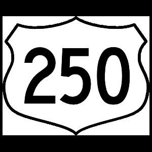 Highway 250 Sign Magnet