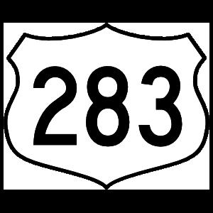 Highway 283 Sign Magnet